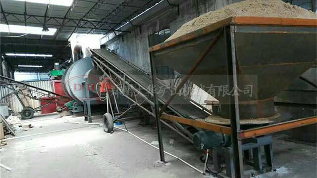 台时产20吨节能环保天然气沙子烘干机在山东曹县投产使用